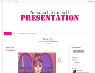 personalstardollpresentation.blogspot.be screenshot