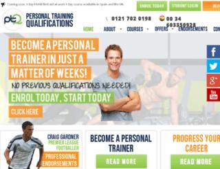 personaltrainingqualifications.com screenshot