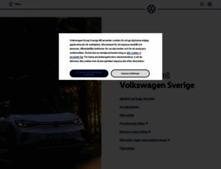 personbilar.volkswagen.se screenshot