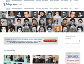 personnedisparue.com screenshot