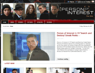 personofinterestfans.com screenshot