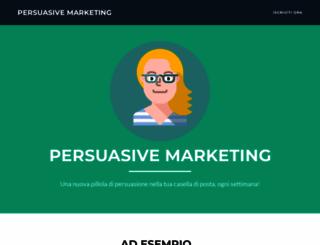 persuasivemarketing.it screenshot