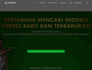 pertaminafoundation.org screenshot