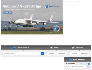perthairport.net.au screenshot