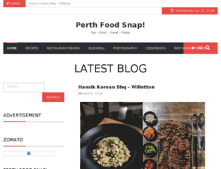 perthfoodsnap.com screenshot