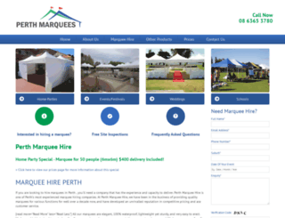 perthmarqueehire.net.au screenshot