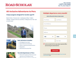 peru.roadscholaradventures.org screenshot