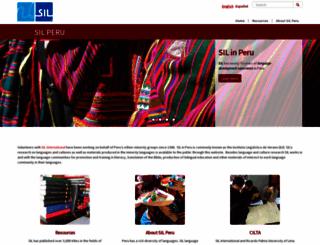 peru.sil.org screenshot
