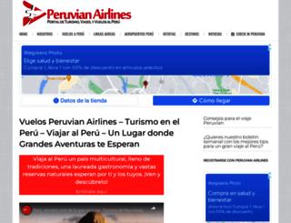 peruvianairlines.com screenshot