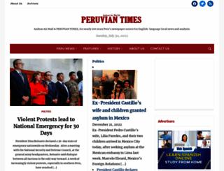 peruviantimes.com screenshot