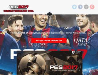 pes-2017.gamesped.com screenshot