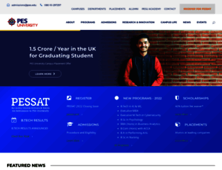 pes.edu screenshot