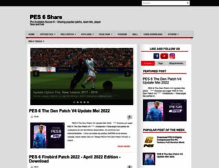 pes6share.blogspot.co.id screenshot