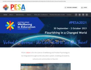 pesa.edu.au screenshot