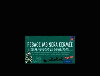 pesage-mb.com screenshot