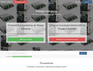 pesaje-industrial.mexicored.com.mx screenshot