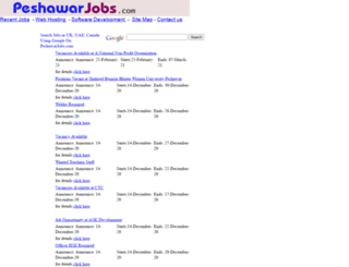 peshawarjobs.com screenshot