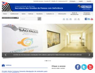 pessoacomdeficiencia.sp.gov.br screenshot