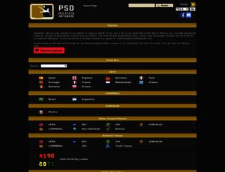 pesstatsdatabase.com screenshot