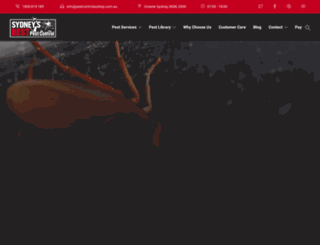 pestcontrolsydney.com.au screenshot