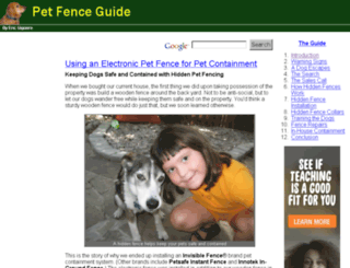 pet-fence.ericgiguere.com screenshot