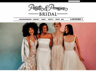 petalsandpromisesbridal.com screenshot