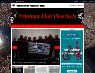 petanqueclubploerinois.clubeo.com screenshot