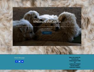 petcarefun.com screenshot