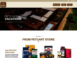 petcart.com screenshot
