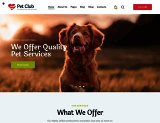 petclub.themerex.net screenshot