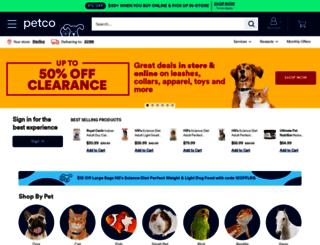 petco.com screenshot