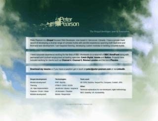 peter-pearson.com screenshot