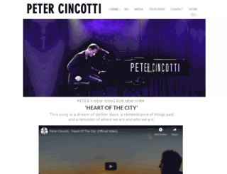 petercincotti.com screenshot