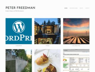 peterfreedman.com screenshot
