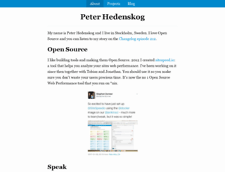 peterhedenskog.com screenshot