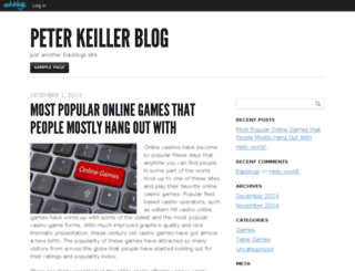 peterkeiller.edublogs.org screenshot