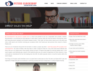 peters-clockshop.com screenshot