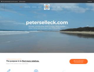 peterselleck.com screenshot