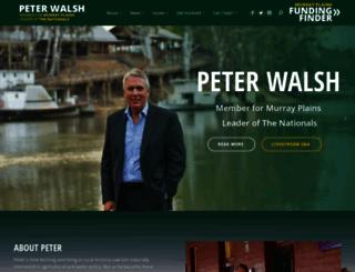 peterwalsh.org.au screenshot