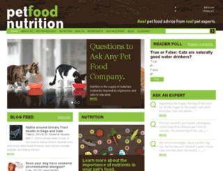 petfoodnutrition.com screenshot