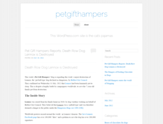 petgifthampers.wordpress.com screenshot
