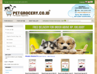 petgrocery.co.id screenshot