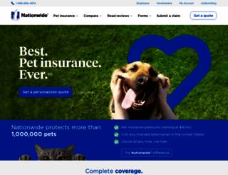 petinsurance.com screenshot