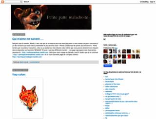 petitepattemaladroite.blogspot.com screenshot