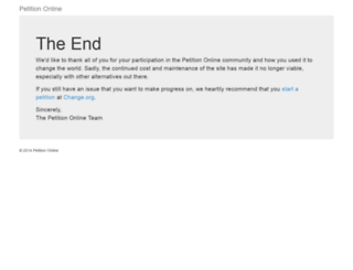 petitiononline.com screenshot