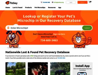 petkey.org screenshot