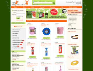 petmanufacturers.com screenshot