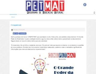 petmat.ufop.br screenshot