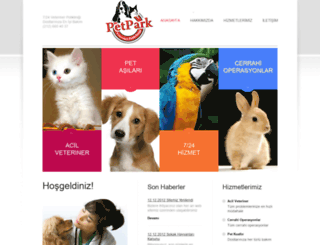 petparkveteriner.com screenshot