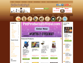 petproductsbyroyal.com screenshot